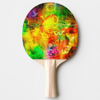Digital Graffiti Ping Pong Paddle