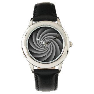 Digital Gray Swirl by Julie Everhart Watch