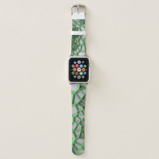 Digital Green Web Apple Watch Band