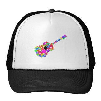 Digital Guitar instruments circle design Cap