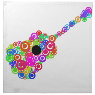 Digital Guitar instruments circle design Napkin