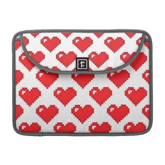 Digital Heart Pattern; Red MacBook Pro Sleeve