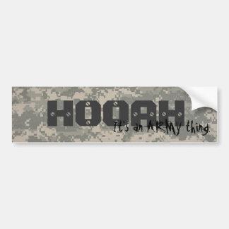 digital, HOOAH, It's an ARMY thing. Bumper Sticker