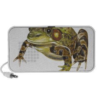 Digital illustration of Green Frog Mini Speakers