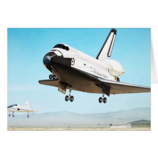 Digital illustration of Space Shuttle Card