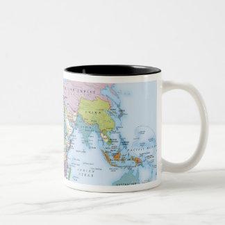 Digital illustration of the world in 1900 Two-Tone coffee mug