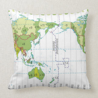 Digital illustration of world map showing time cushion