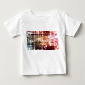 Digital Imagery with Data Network Transfer Art Baby T-Shirt