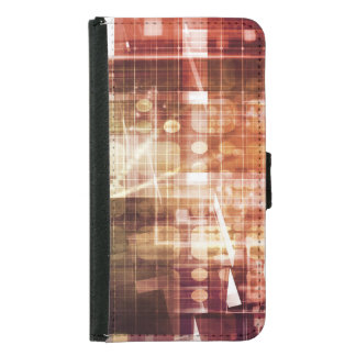 Digital Imagery with Data Network Transfer Art Samsung Galaxy S5 Wallet Case