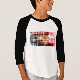 Digital Imagery with Data Network Transfer Art T-Shirt