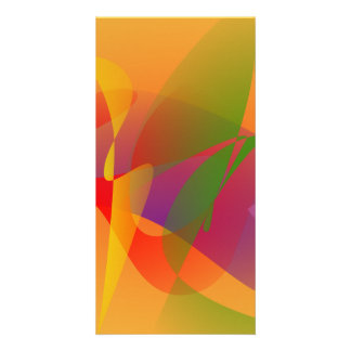 Digital Kandinsky Emulation Photo Card Template