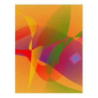 Digital Kandinsky Emulation Postcard