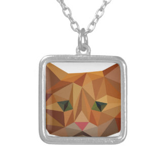 Digital Kitty Silver Plated Necklace