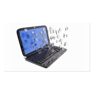 Digital Laptop and you case out Pack Of Standard Business Cards