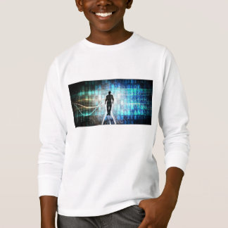 Digital Literacy as a Technology Concept Backgroun T-Shirt