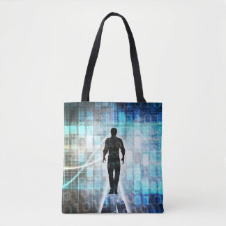 Digital Literacy as a Technology Concept Tote Bag