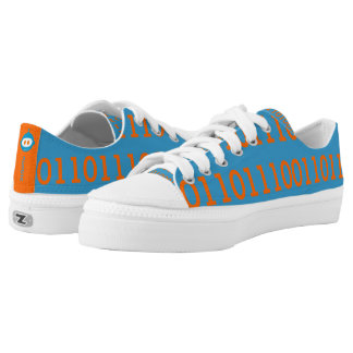 Digital Love Low Top Shoes All Binary Printed Shoes