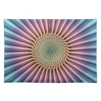 Digital Mandala Flower Place Mat