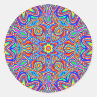 Digital Mandala Kaleidoscope, vivid color stickers