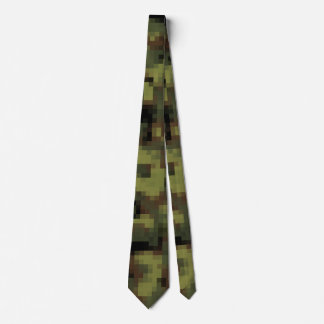 Digital Military Green Camouflage Tie