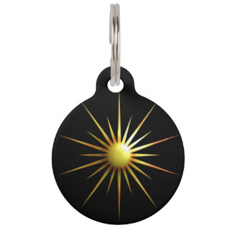 Digital Modern Sun Pet ID Tag