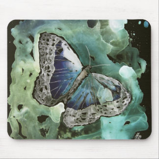 digital monarch butterfly painting mouse pad