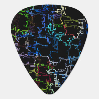 Digital Multicolor Abstract Line Pattern Guitar Pick