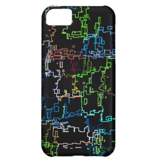 Digital Multicolored Abstract Line Pattern iPhone 5C Case