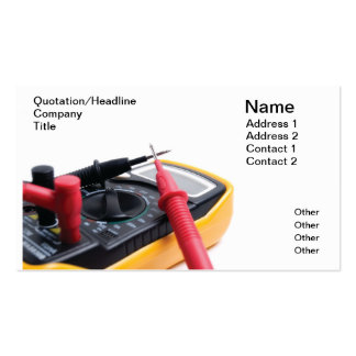 Digital multimeter business card