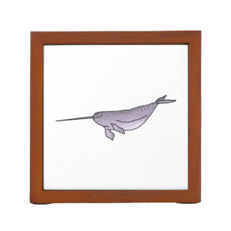 Digital Narwhal Illustration, Sea Animal Desk Organiser