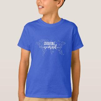 Digital nomad geometric world map T-Shirt
