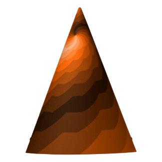 Digital Ocean Wave in Orange Party Hat