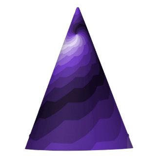 Digital Ocean Waves in Purple Party Hat