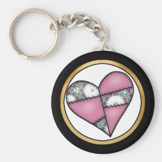 Digital Padded Patchwork - Heart-011 Keychains