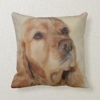Digital Painting of a Beautiful Cocker Spaniel Dog Cushion