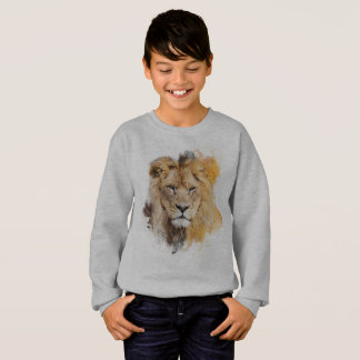 Digital Painting of a Photographed Lion Head Sweatshirt