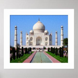 Digital painting Taj Mahal Print
