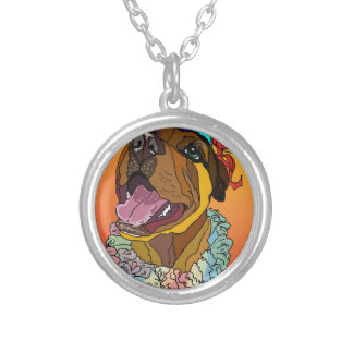 Digital Pet Drawings Silver Plated Necklace