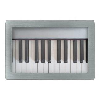 Digital piano keyboard belt buckle
