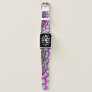 Digital Pink Web Apple Watch Band