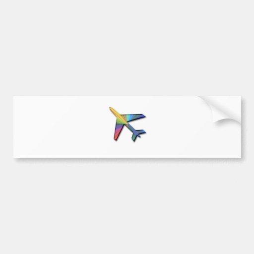 digital plane bumper stickers