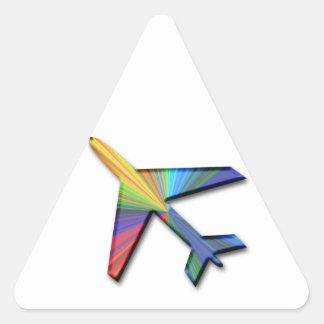 digital plane triangle stickers