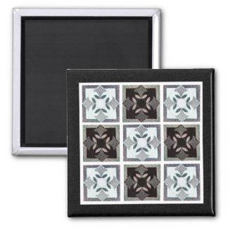 Digital Quilt Square Magnet