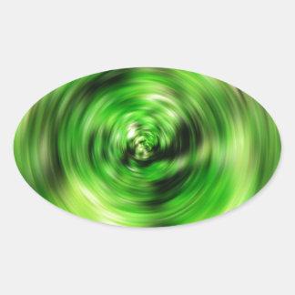 Digital Radial Colours Blur Glow Art Beautiful Des Oval Sticker