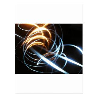 Digital Radial Colours Blur Glow Art Beautiful Des Post Card