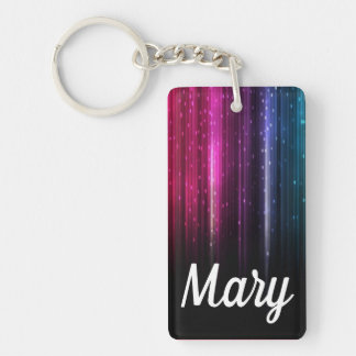 Digital Rainbow Bright Happy Slick Color Fob Key Ring