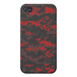 Digital Red Tiger Camo iPhone Case iPhone 4/4S Case