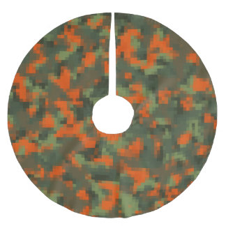 Digital Safety Camo Brushed Polyester Tree Skirt