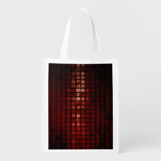Digital Security and Network Firewall Surveillance Reusable Grocery Bag
