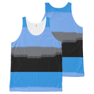 Digital Sky All-Over Print Singlet